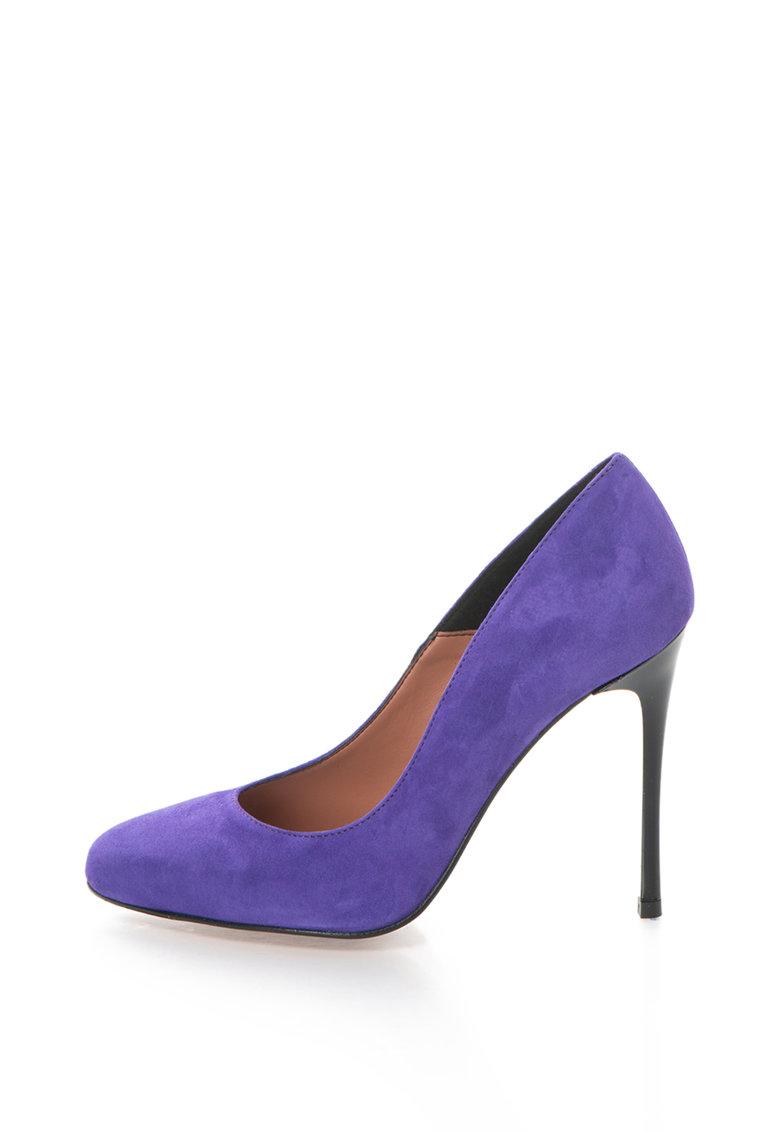 Pantofi stiletto de piele intoarsa Angie de la Zee Lane