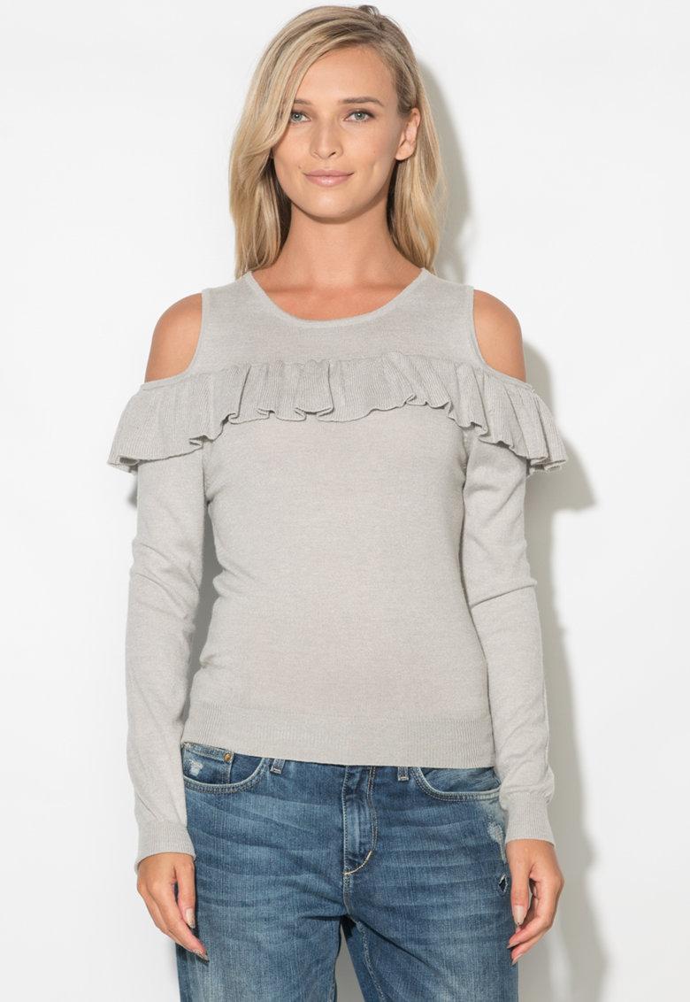 Zee Lane Bluza din tricot fin cu decupaje pe umeri