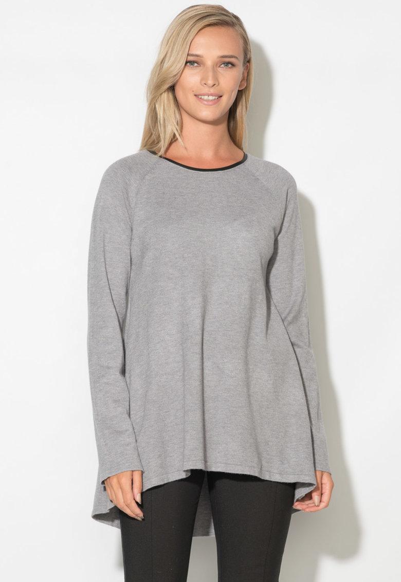 Zee Lane Pulover asimetric tricotat fin