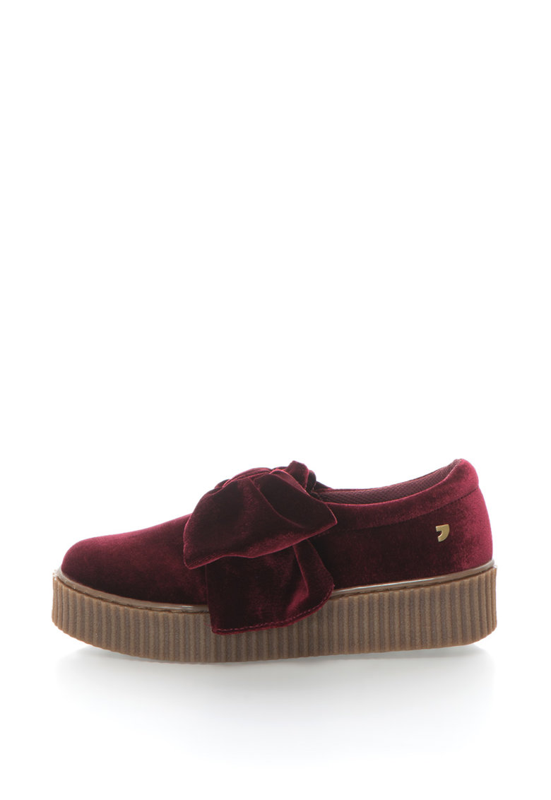 Gioseppo Pantofi slip-on flatform de catifea