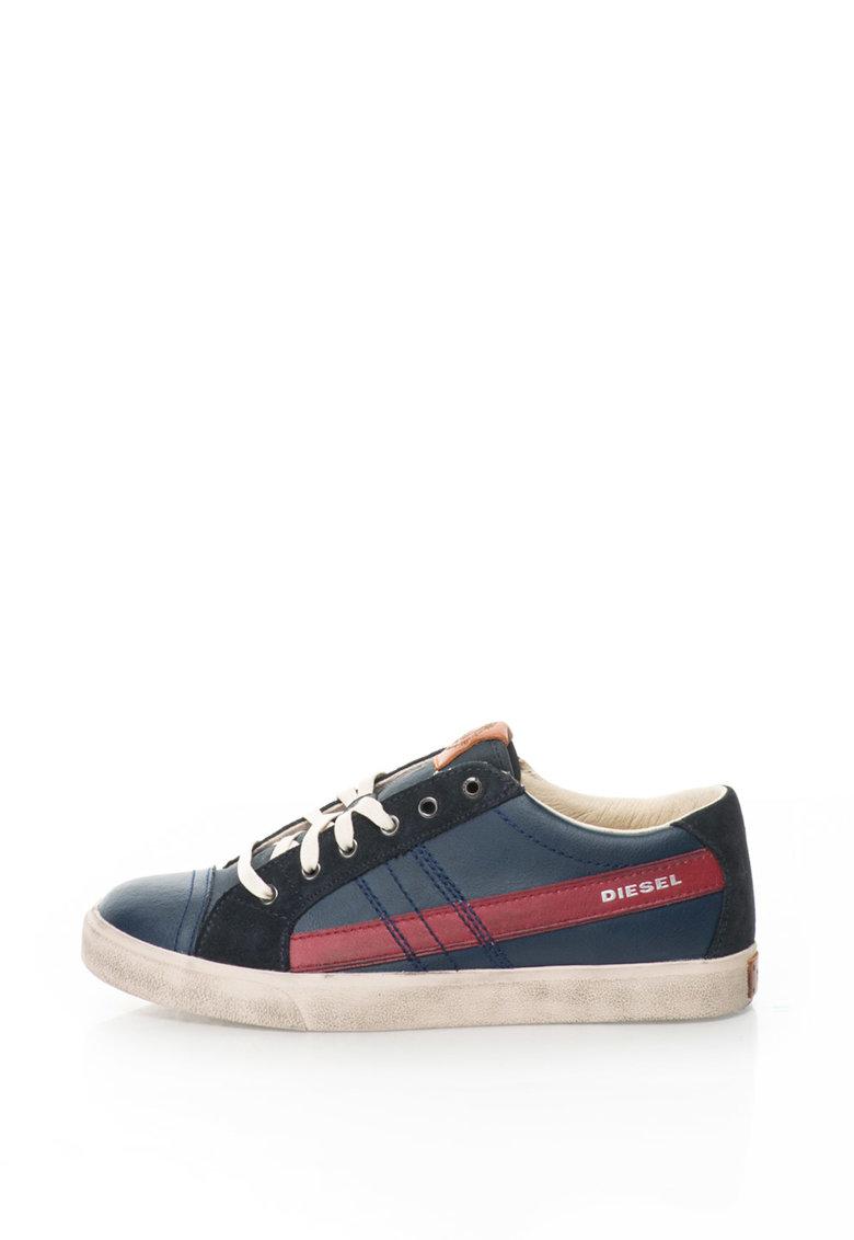 Diesel Pantofi sport de piele String Low