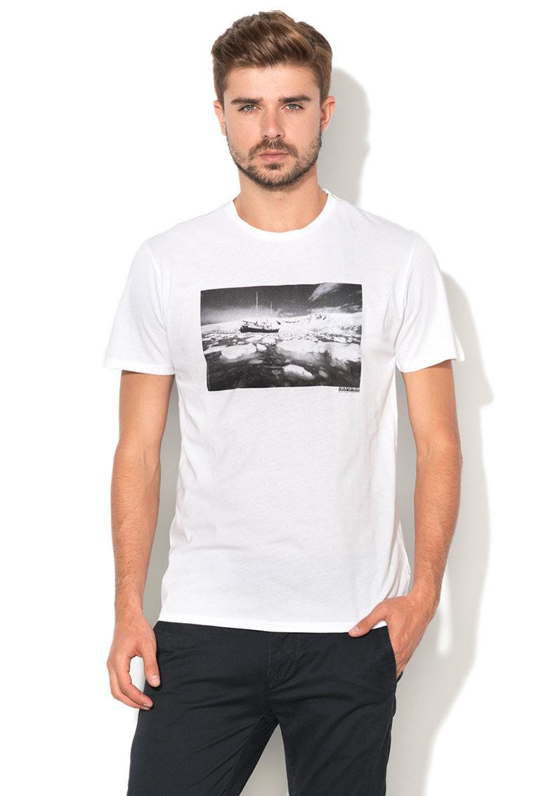 Napapijri Tricou de bumbac cu imprimeu Savoonga