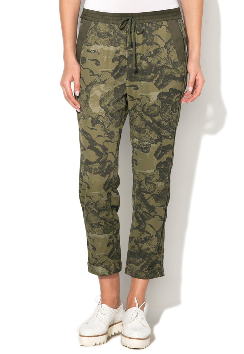 G-Star Raw Pantaloni cu imprimeu camuflaj Bronson
