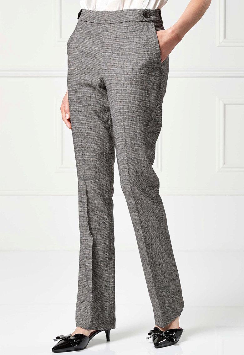 Pantaloni bootcut texturati