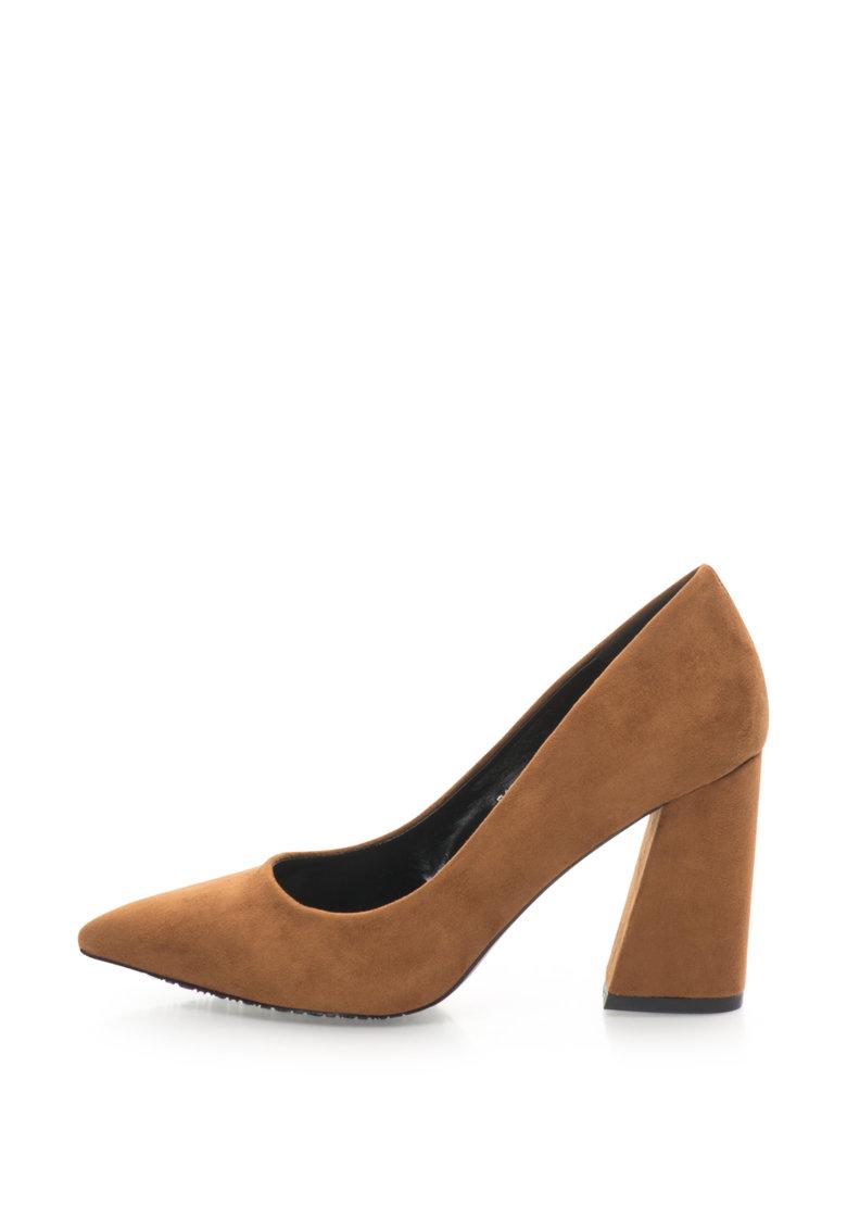 Pantofi de piele intoarsa cu varf ascutit de la Francesco Milano