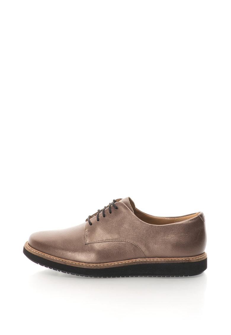 Clarks Pantofi casual de piele Glick-Darby