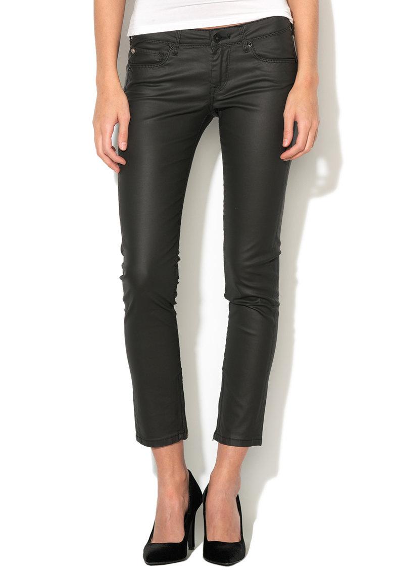 Pepe Jeans London Pantaloni slim fit din amestec de lyocell cu aspect peliculizat Cher