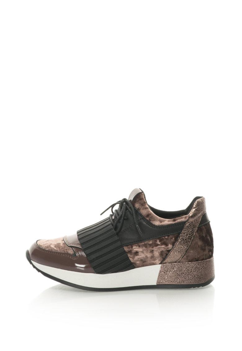 Bronx Pantofi sport de piele cu insertii din material textil
