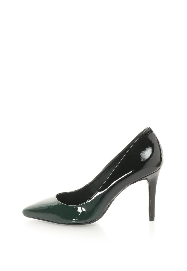 Bronx Pantofi stiletto de piele lacuita – cu aspect in degrade si cu varf ascutit