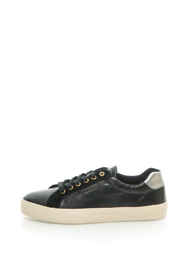 Pantofi sport de piele cu logo Mary de la Gant 15531007-G00-BLACK