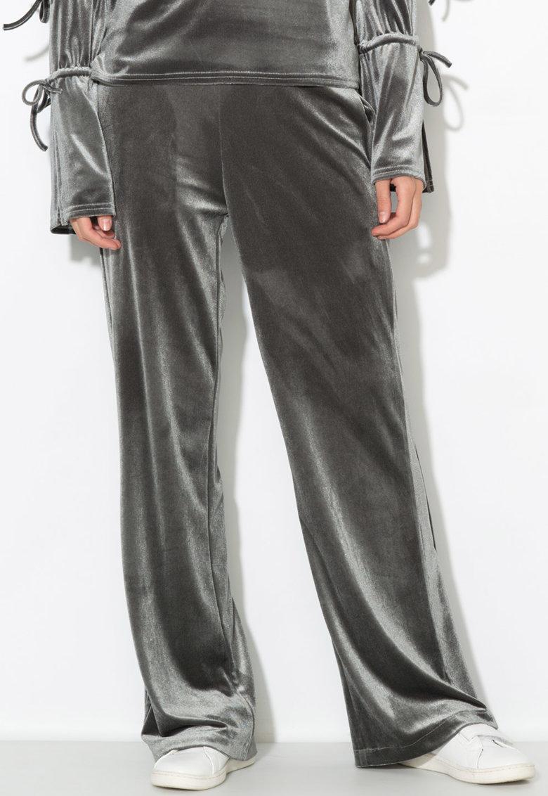 Zee Lane Denim Pantaloni din catifea cu croiala ampla