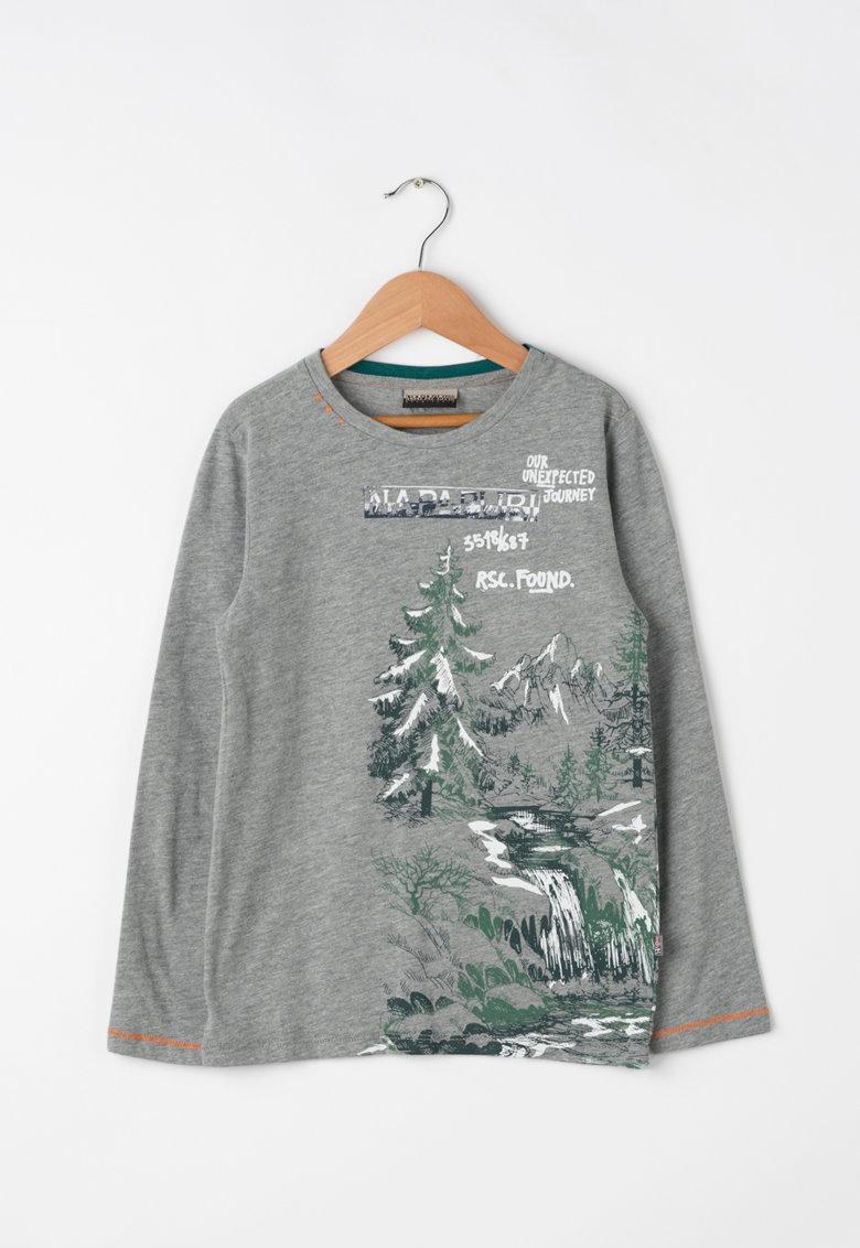 Bluza cu model grafic Sillo