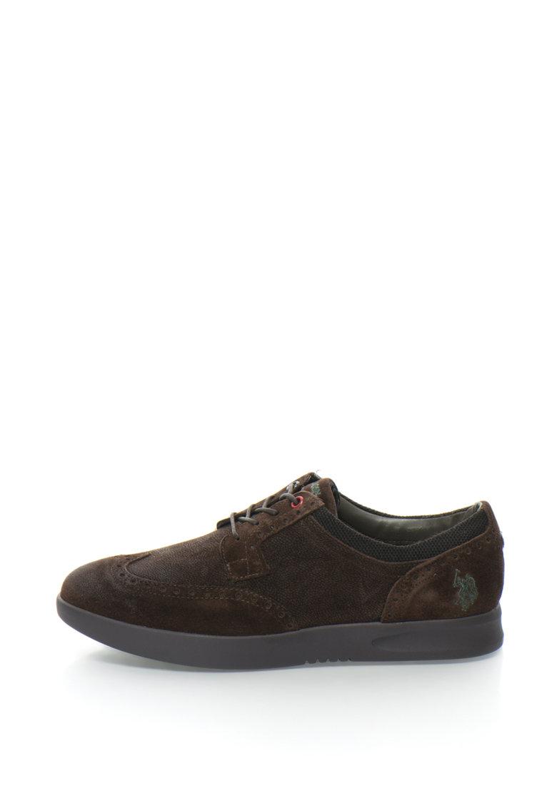US Polo Assn Pantofi brogue de piele Sanford