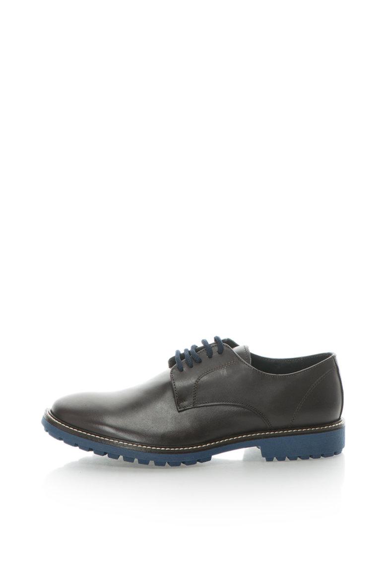 Pantofi de piele cu talpa contrastanta BERTRAND
