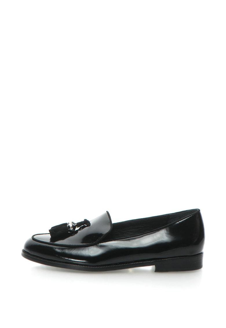 Polo Ralph Lauren – Pantofi loafer de piele lacuita cu canafi Brindy de la Lauren Ralph Lauren