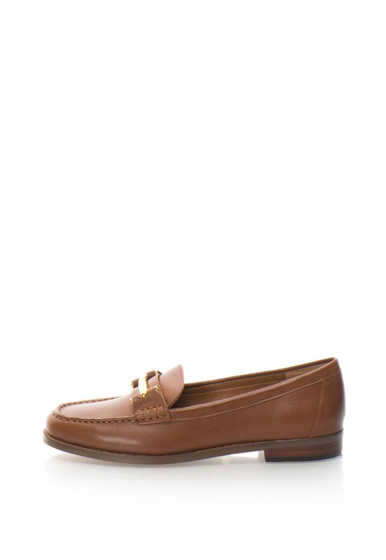 Pantofi loafer penny de piele cu aplicatie metalica Flynn de la Lauren Ralph Lauren