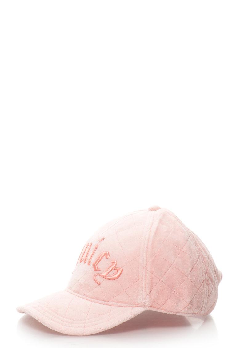 Juicy Couture Sapca de catifea cu logo brodat
