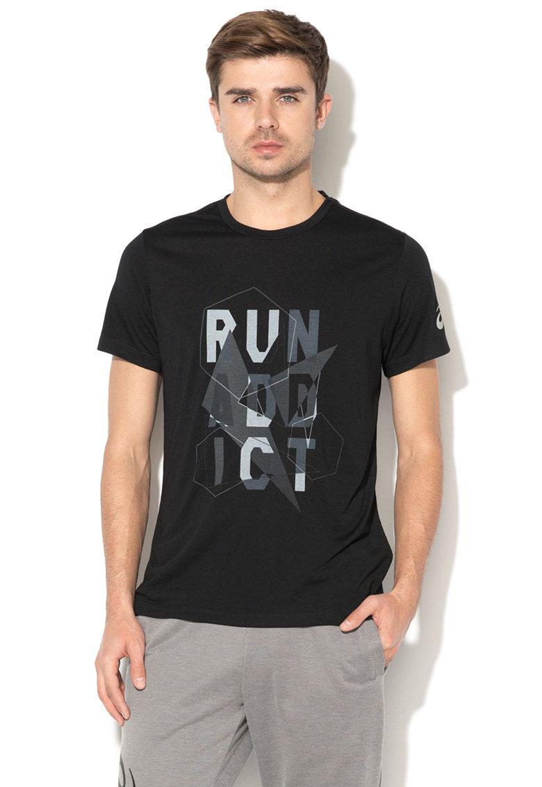 Tricou cu imprimeu grafic pentru alergare