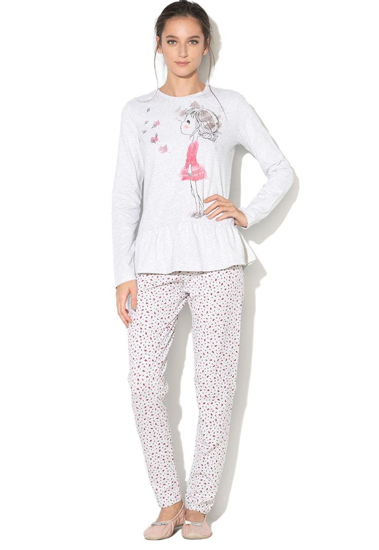 Pijama Cu Imprimeu Cu Papusa