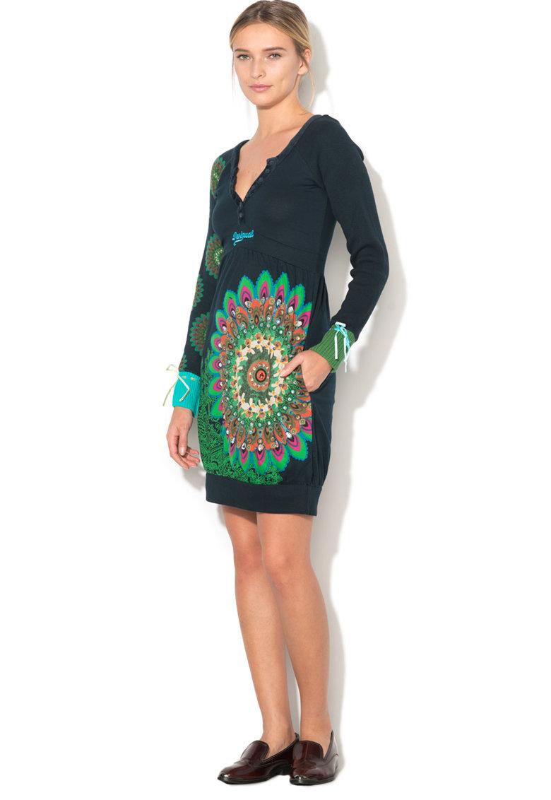 DESIGUAL Rochie evazata cu maneci tricotate Berta