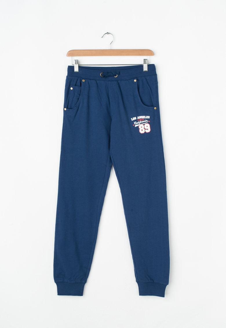 Zee Lane Kids Pantaloni sport cu buzunare si snur