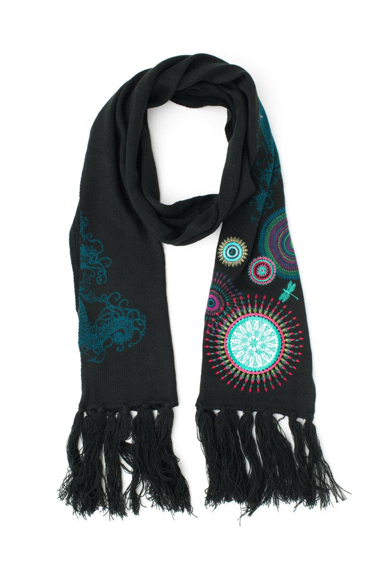 DESIGUAL Esarfa tricotata cu mandale brodate Eclipse