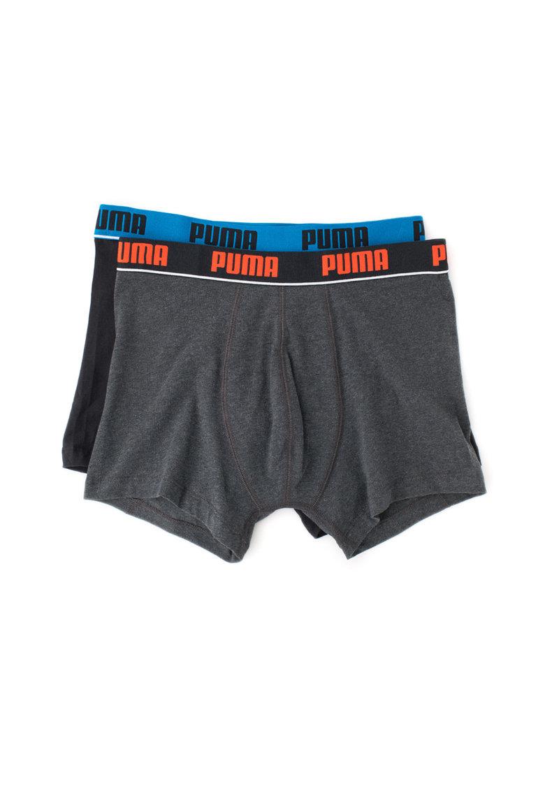 Puma Set de boxeri cu banda cu logo in talie – 2 perechi