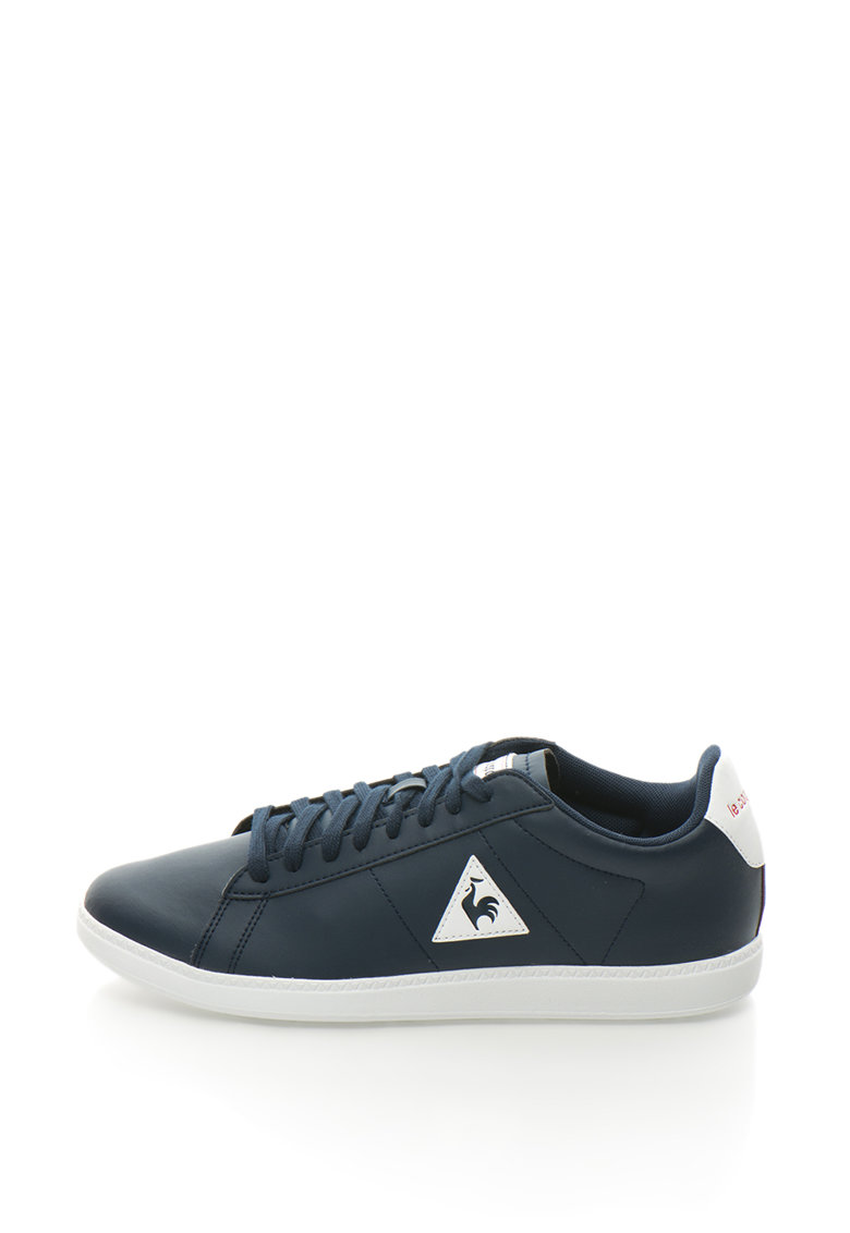 Le Coq Sportif Pantofi sport de piele sintetica – cu logo Courtset