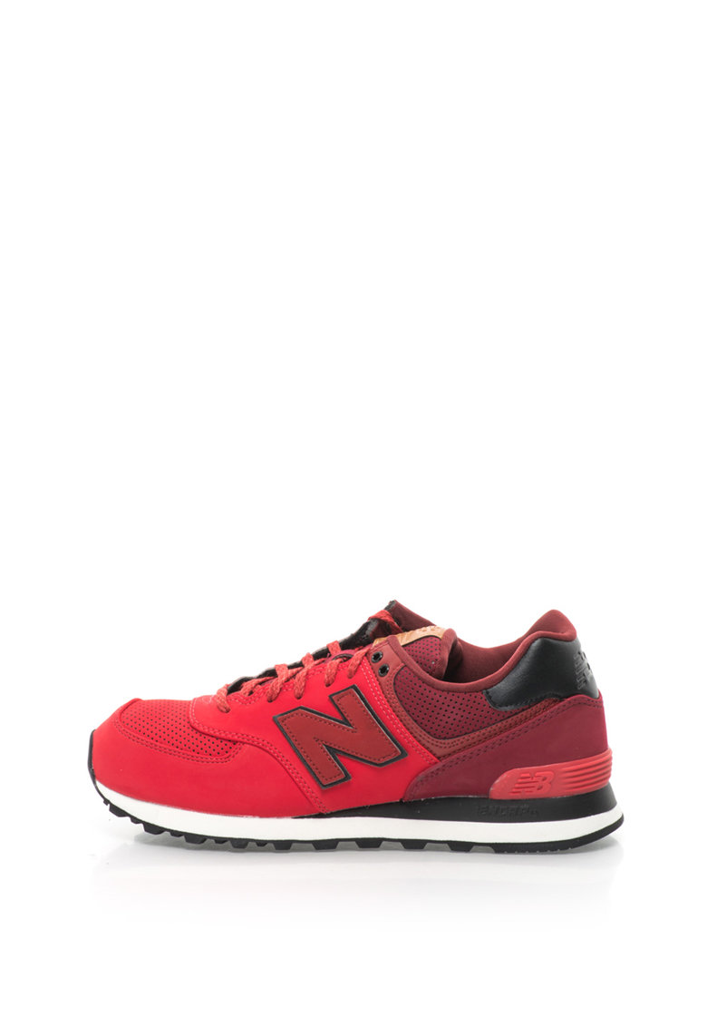 Pantofi sport din piele sintetica cu design perforat 574 de la New Balance