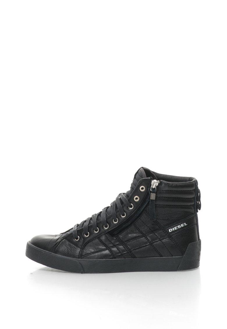 Diesel Pantofi sport mid high din piele si piele intoarsa D-String Plus