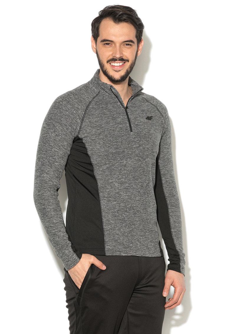 Bluza din fleece cu segmente elastice laterale de la 4F
