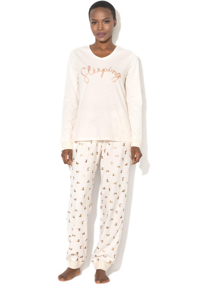 Pijama cu imprimeu grafic thumbnail
