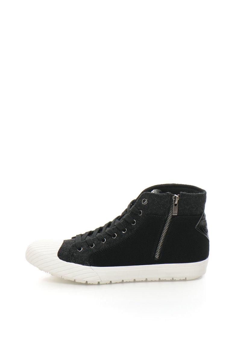 Pantofi sport cu aplicatie cap-toe si garnituri din fetru thumbnail