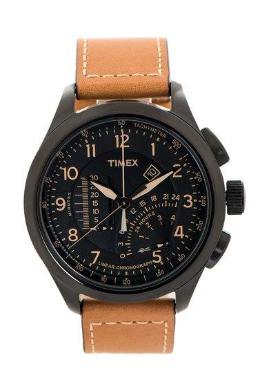 Timex Ceas cronograf maro cu negru Intelligent Quartz