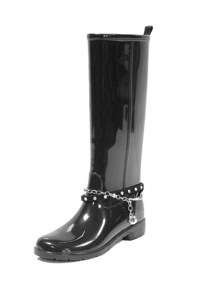 Cizme negre de ploaie cu lant Ribot de la Favolla