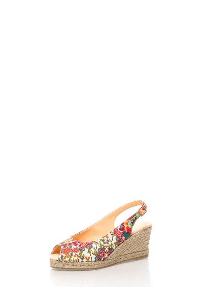 Sandale wedge cu imprimeu floral Lili