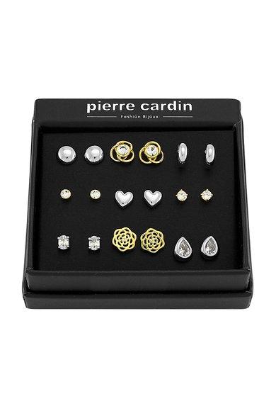 Pierre Cardin Set de cercei argintii si aurii – 9 perechi