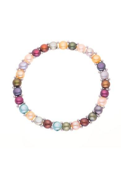 Bratara ajustabila multicolora din perle de la Perles Addict