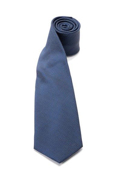 FashionDays.ro: Cravata bleumarin de matase cu model cu buline Vincenzo Boretti