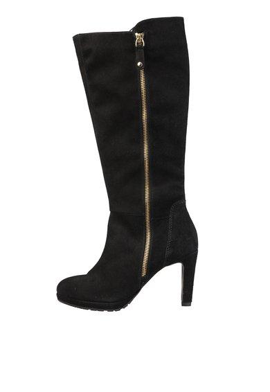 Cizme negre din piele intoarsa Sabine de la Versace 1969 Abbigliamento Sportivo