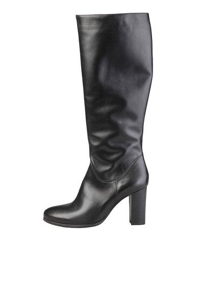 Cizme negre din piele Vanille de la Versace 1969 Abbigliamento Sportivo