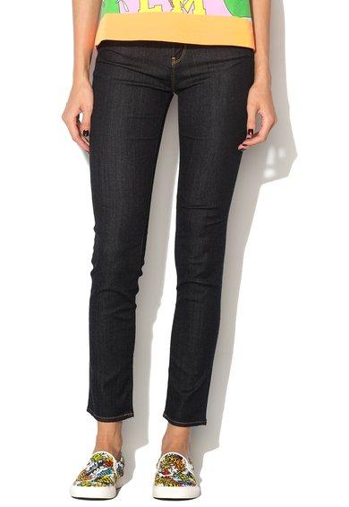 FashionDays.ro: Pantaloni elastici albastru ultramarin din denim Love Moschino