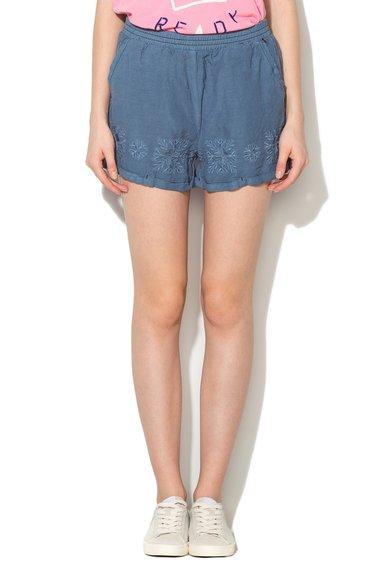 FashionDays.ro: Pantaloni scurti albastru mineral cu broderii Nina Pepe Jeans London