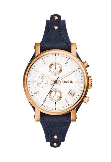 Ceas cronograf bleumarin Original Boyfriend de la Fossil