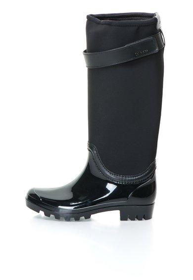 Calvin Klein Cizme de ploaie negre cu garnituri din neopren Wisconsin