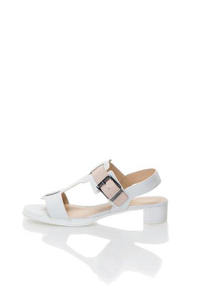 Sandale alb cu bej din piele Cady de la Calvin Klein