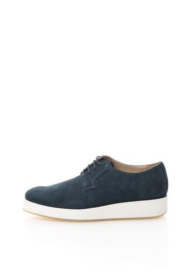 Pantofi albastru inchis din piele intoarsa Hadley