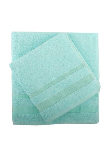Set verde menta de prosoape de baie si pentru maini – 2 piese de la Leunelle