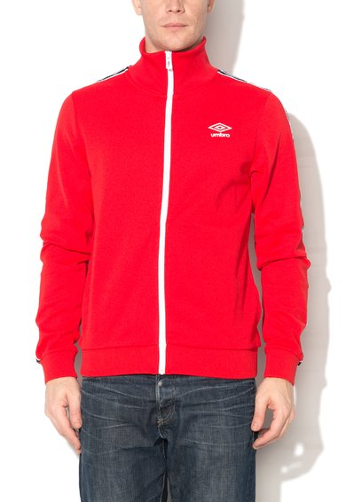 Umbro Bluza sport rosie cu fermoar si logo