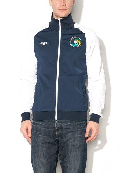 Bluza sport cu fermoar bleumarin cu alb de la Umbro